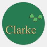 Familia de Clarke Pegatina Redonda