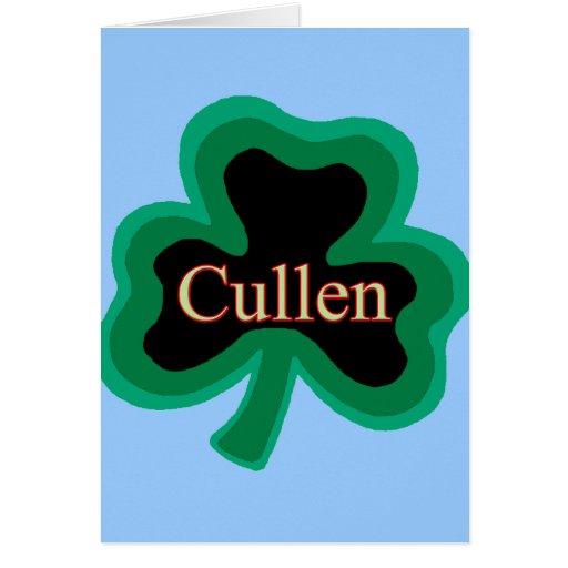 Familia de Cullen Tarjetón