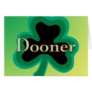 Familia de Dooner Tarjeta De Felicitación