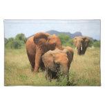 Familia de elefantes, Kenia Mantel Individual