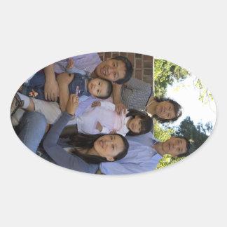 Familia de Feng Lu Calcomania De Oval Personalizadas