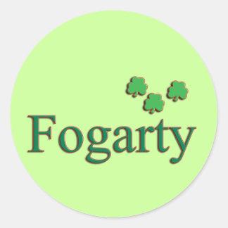 Familia de Fogarty Pegatina Redonda