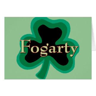 Familia de Fogarty Tarjeta De Felicitación