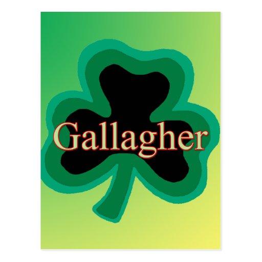 Familia de Gallagher Tarjetas Postales