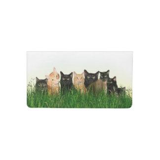 Familia de gato del gatito funda para chequera