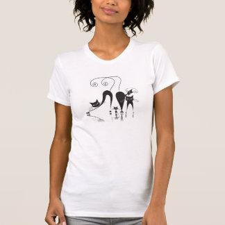 Familia de gato negro - camiseta - 1