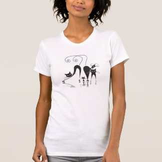 Familia de gato negro - camiseta - 1 playeras