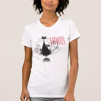 Familia de gato negro - camiseta