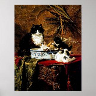 Familia de gatos, Henriëtte Ronner-Knip Póster