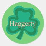 Familia de Haggerty Pegatinas Redondas