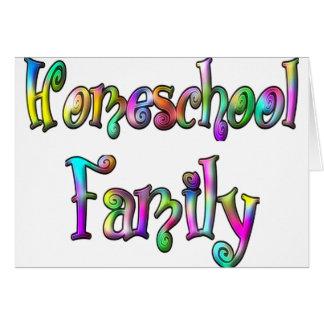 Familia de Homeschool Tarjeta De Felicitación