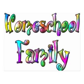 Familia de Homeschool Tarjetas Postales