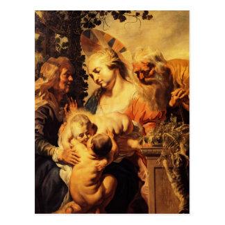 Familia de Jacob, Elizabeth y niño Jordaens-Santos Postales