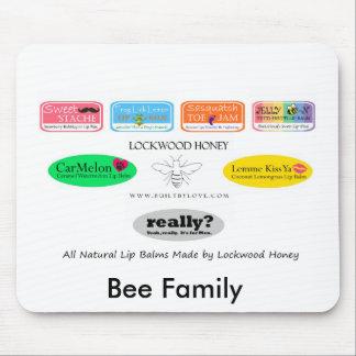 Familia de la abeja alfombrilla de ratón