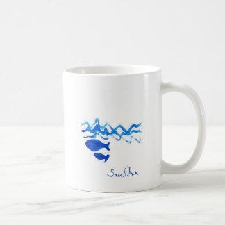 Familia de la ballena taza de café