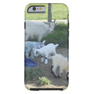 Familia de la cabra del bebé funda de iPhone 6 tough