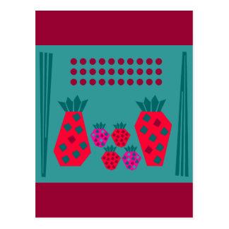 Familia de la fruta postales