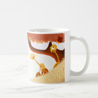 """Familia de la jirafa """"de oro """" tazas de café"""