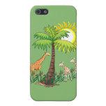 Familia de la jirafa iPhone 5 carcasas