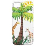 Familia de la jirafa iPhone 5 protectores