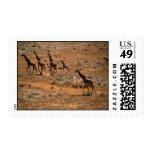Familia de la jirafa sello