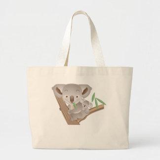 Familia de la koala bolsa tela grande