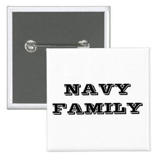 Familia de la marina de guerra del botón pin cuadrado