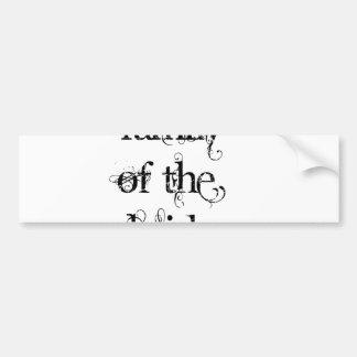 Familia de la novia etiqueta de parachoque