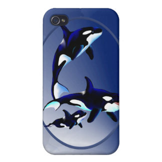 Familia de la orca iPhone 4 carcasa
