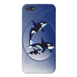 Familia de la orca iPhone 5 carcasa