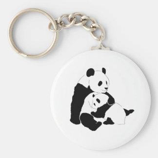 Familia de la panda llaveros personalizados
