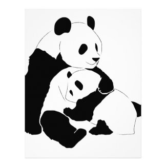Familia de la panda membrete a diseño
