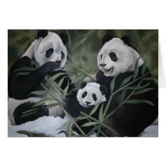 Familia de la panda tarjeta pequeña