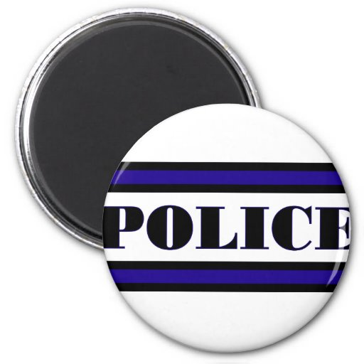 Familia de la policía imán redondo 5 cm