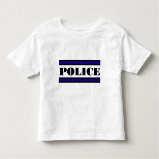 Familia de la policía playera de bebé