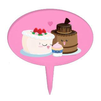 Familia de la torta figura para tarta