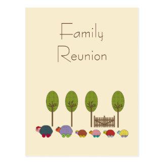 Familia de la tortuga tarjetas postales