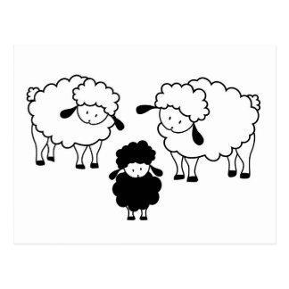 Familia de las ovejas negras postal