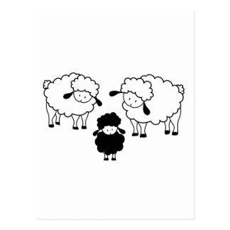 Familia de las ovejas negras tarjeta postal