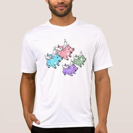 Familia de los cerdos del vuelo t-shirt