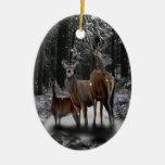 Familia de los ciervos del solsticio adornos de navidad