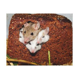 Familia de los ratones impresión en lienzo