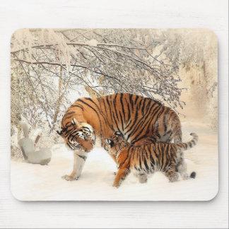 Familia de los tigres alfombrillas de ratones