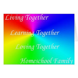 Familia de LT Homeschool Tarjeta De Felicitación