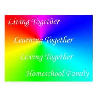 Familia de LT Homeschool Tarjeta Postal