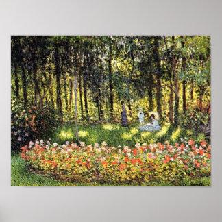Familia de Monet en la impresión artística del jar