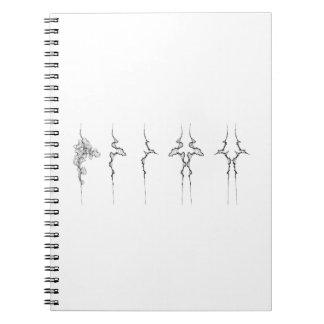 Familia de no. 1 de las curvas en un cuaderno