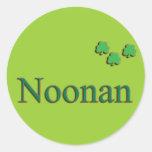 Familia de Noonan Etiqueta Redonda