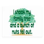 Familia de nuez tarjeta postal