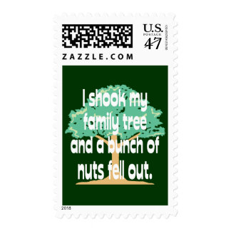 Familia de nuez timbres postales